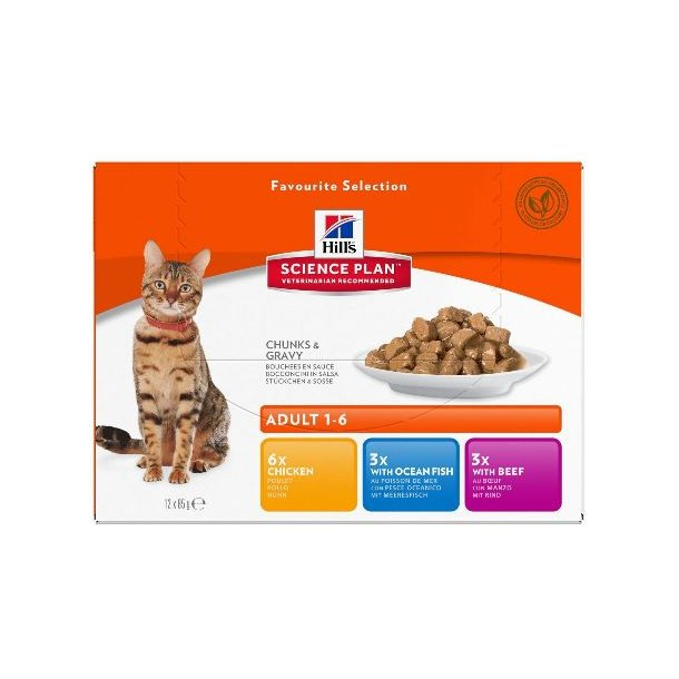 Hills portionspose 12x85g Adult Multi