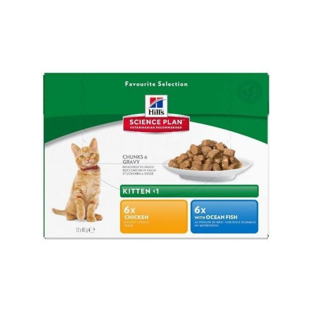 Hills portionspose 12x85g Kitten Multi