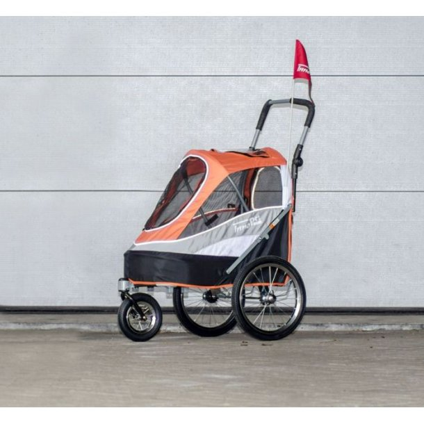 Hundeklapvogn InnoPet Sporty Trailer Deluxe m. Lufthjul Orange/Sort
