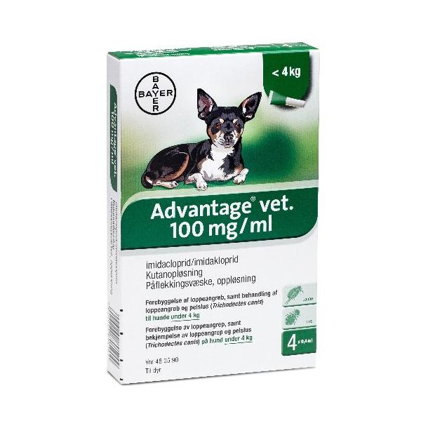Advantage Hund under 4 kg