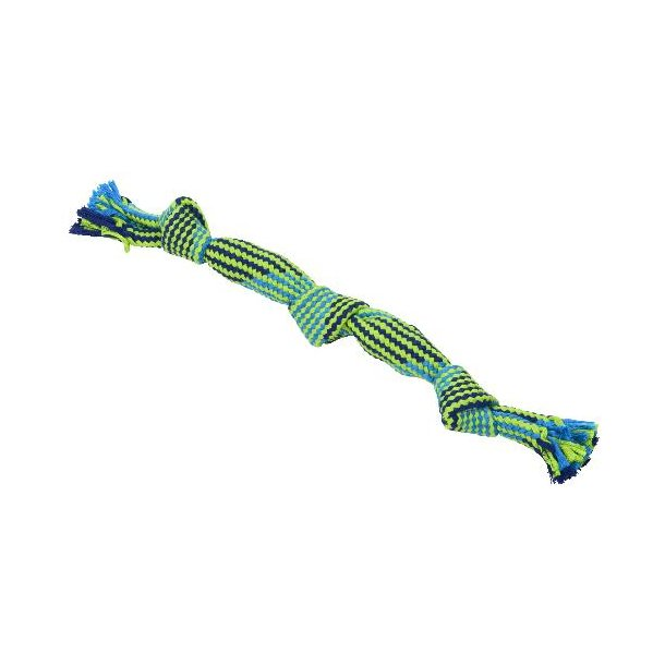 Buster Color Squeak Rope 3 knuder