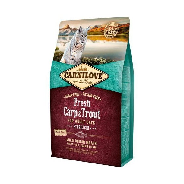 Carnilove Grainfree Cat Sterilised Fresh Karpe & Ørred 6kg