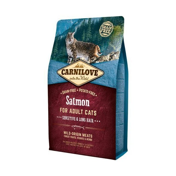 Carnilove Grainfree Cat Sensitive & Long Hair Laks 2kg