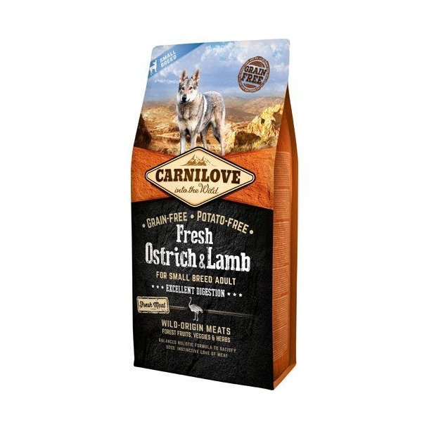 Carnilove Grainfree Dog Fresh Small Breed Struds & Lam 1,5kg